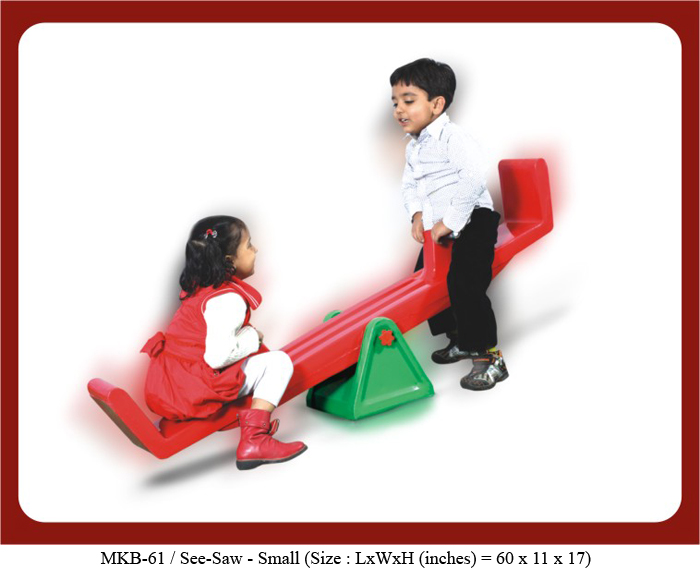 image of see-saw for play school in india