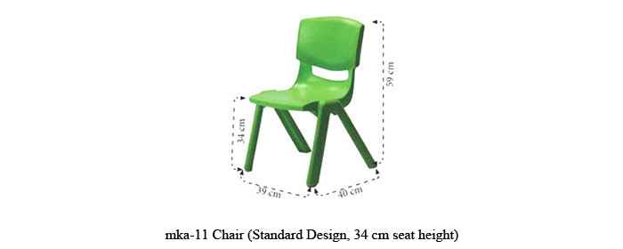 image of plastic chairs for play school mka-11