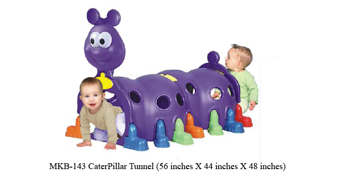 image of play school caterpillar tunnel