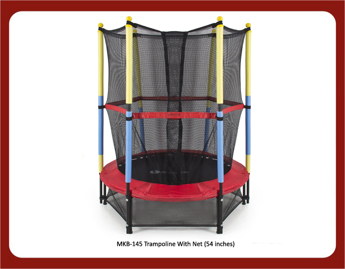 image of mkb-145 trampoline with net