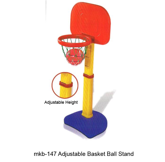 image of mkb-147 adjustable plastic basket ball stand