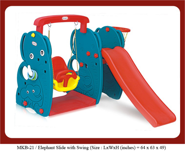mkb-21 elephant slide with swing