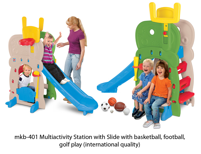 image of mkb-401 multiactivity play station with slide