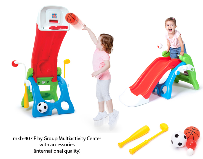 image of mkb-407 play school equipment slide for sale in india