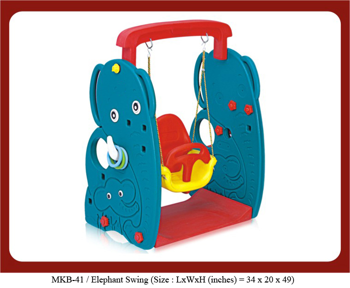 image of swings for play school