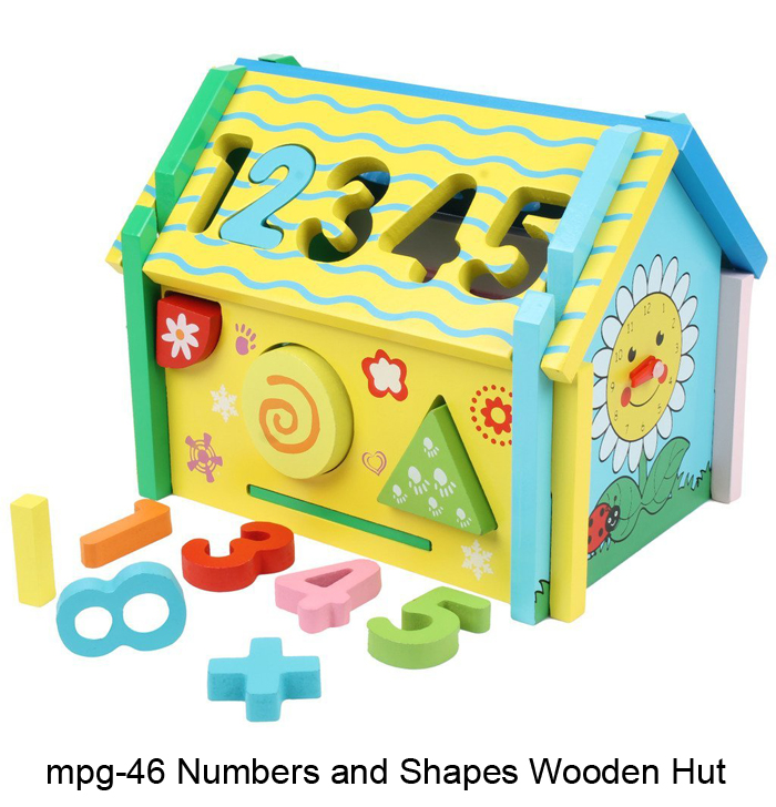 mpg-46 numbers and shapes wooden hut - MyKidsArena Play ...