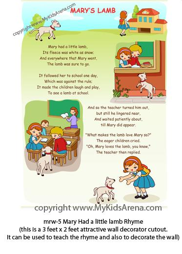 Play School Rhymes For Play School Class Room Wall