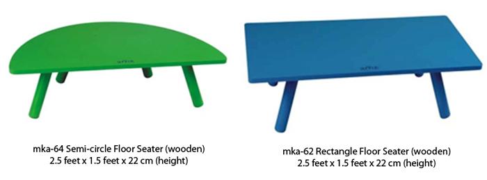 wooden floor seaters