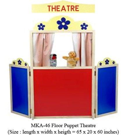 mka-46 wooden floor puppet theatre