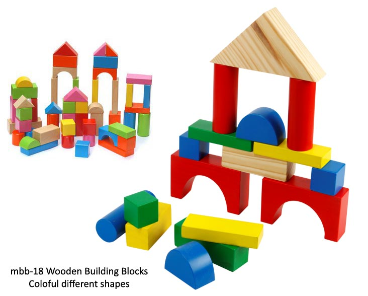 mbb-18 building blocks colorful different shapes