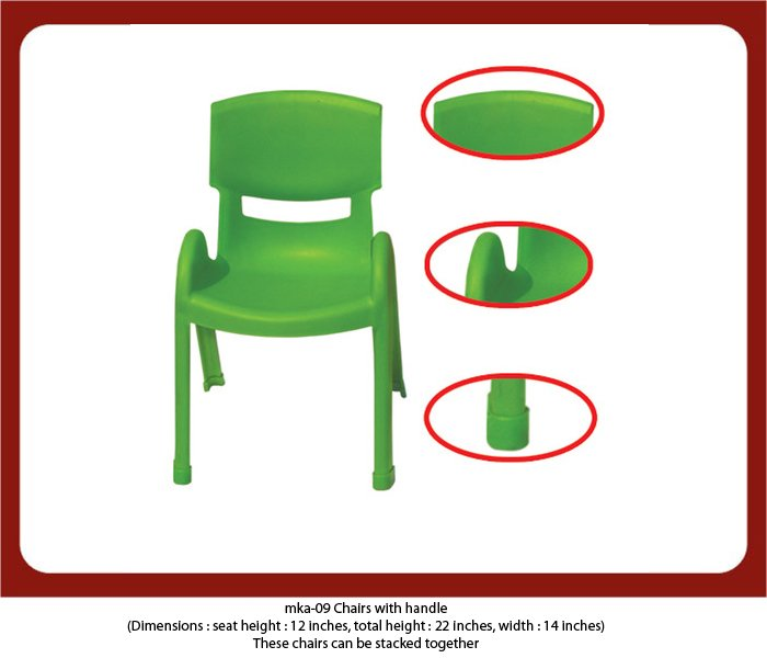 mka-09 plastic chair with side support for preschool furniture. To know the prices please contact MyKidsArena now