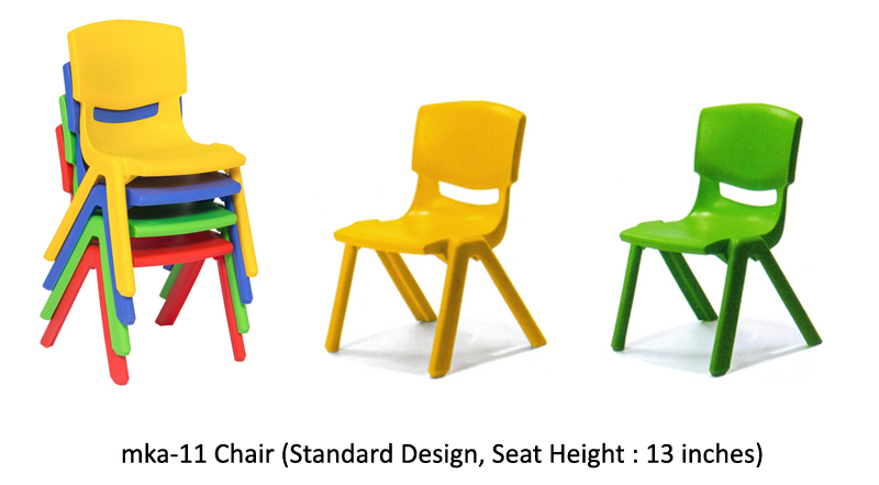 mka-11 play school plastic chair