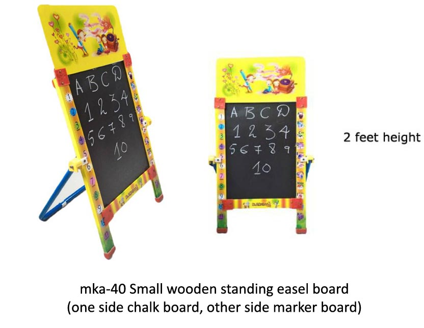 mka-40 small wooden standing easel board