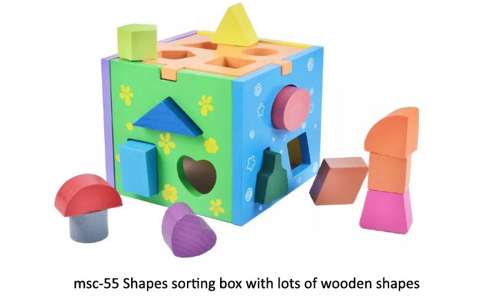 Shapes sorting box with lots of shapes copy