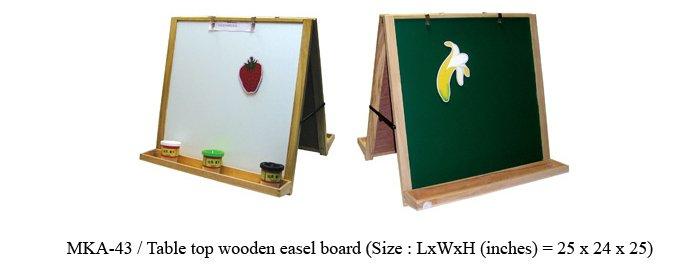 mka-43 table top wooden easel board