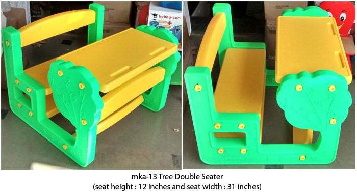 mka-13 Tree design plastic benches for preschools in India