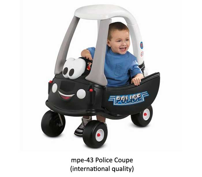 mpe-43 police coupe rideon for play school