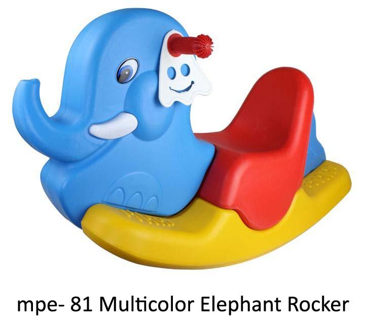mpe-81 multicolor elephant rocker