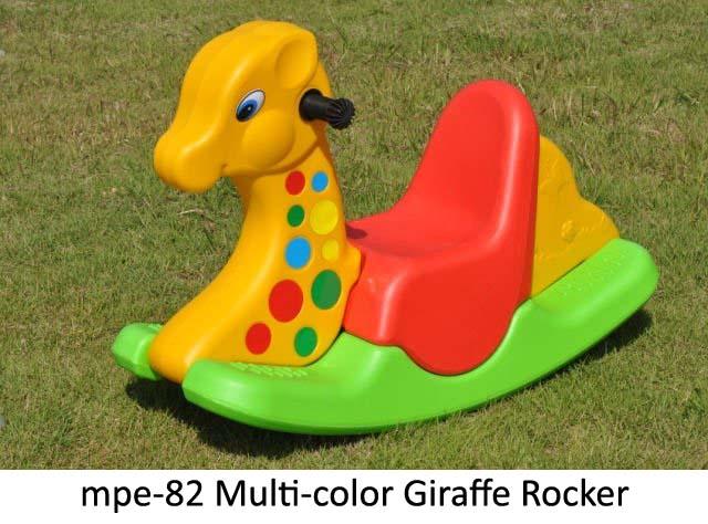 mpe-82 multicolor giraffe rocker